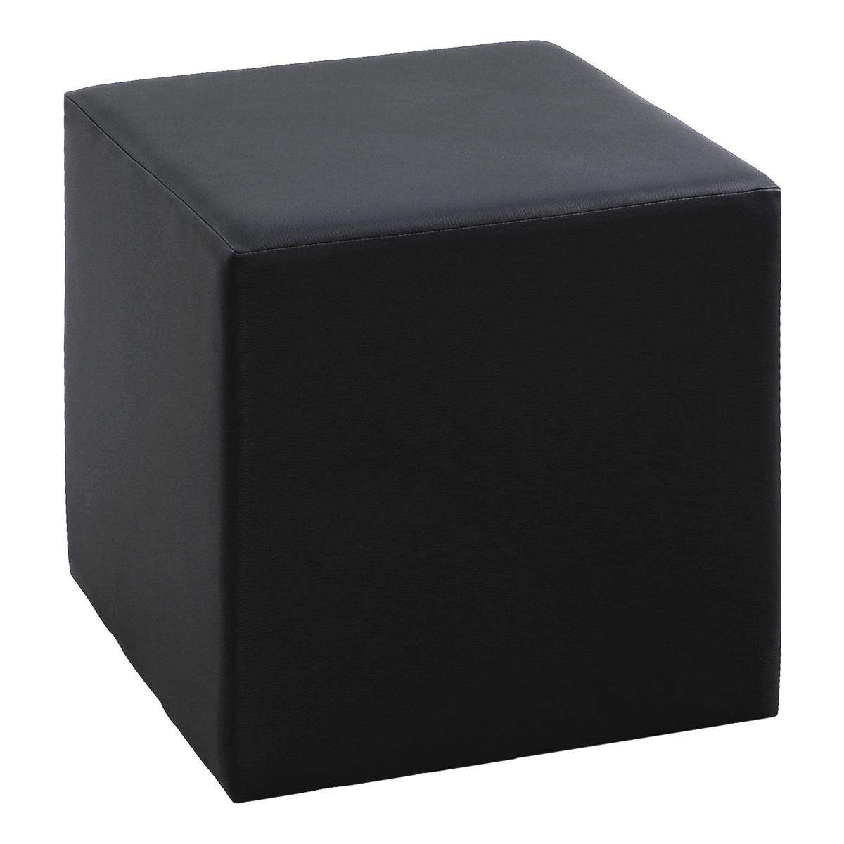 Hocker Cubi, schwarz