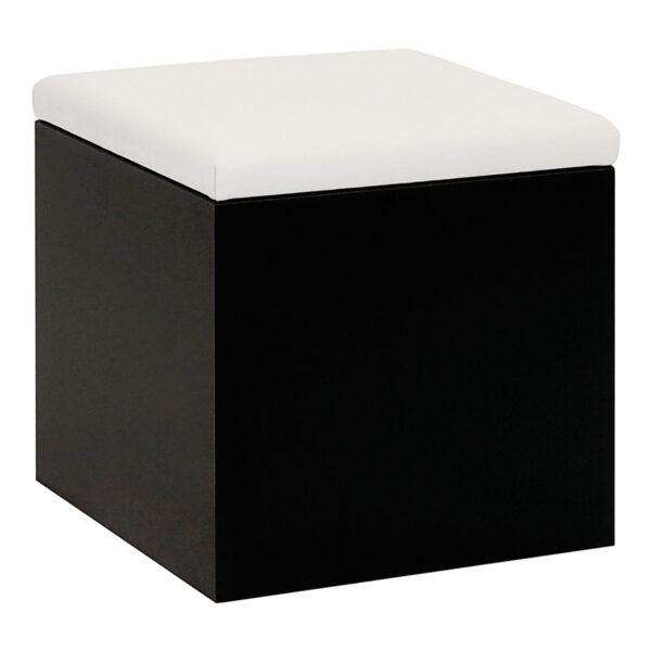 Hocker Cubus, schwarz-weiß