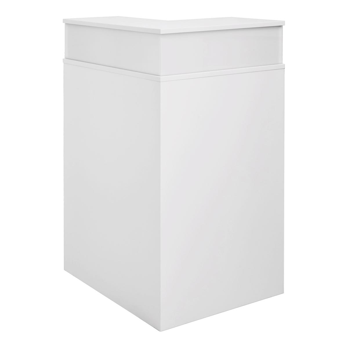 Theke Bianco Eckteil, weiß