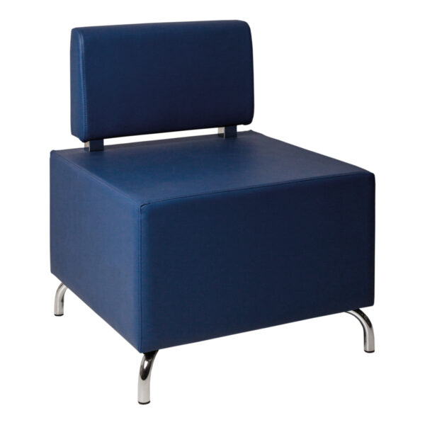 Hocker Dado, eine Lehne, blau