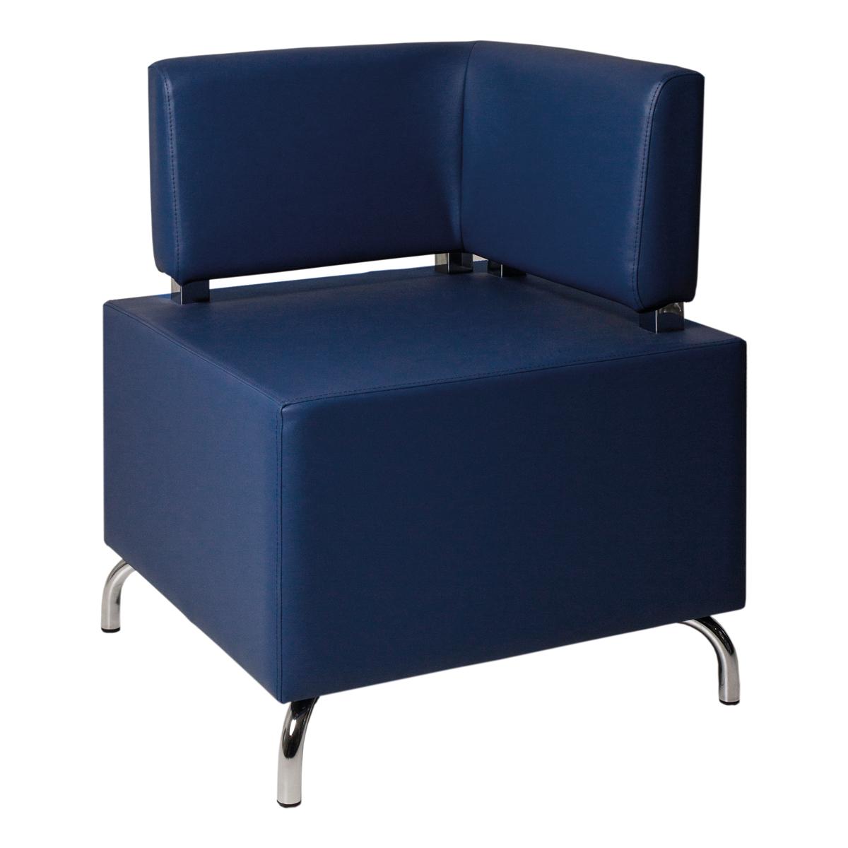 Hocker Dado, zwei Lehnen, blau