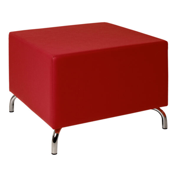 Hocker Dado, ohne Lehne, rot