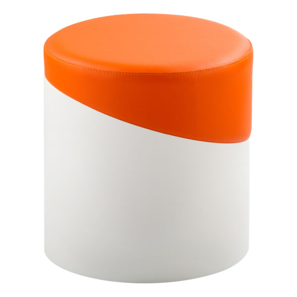 Hocker Nar, weiß-orange