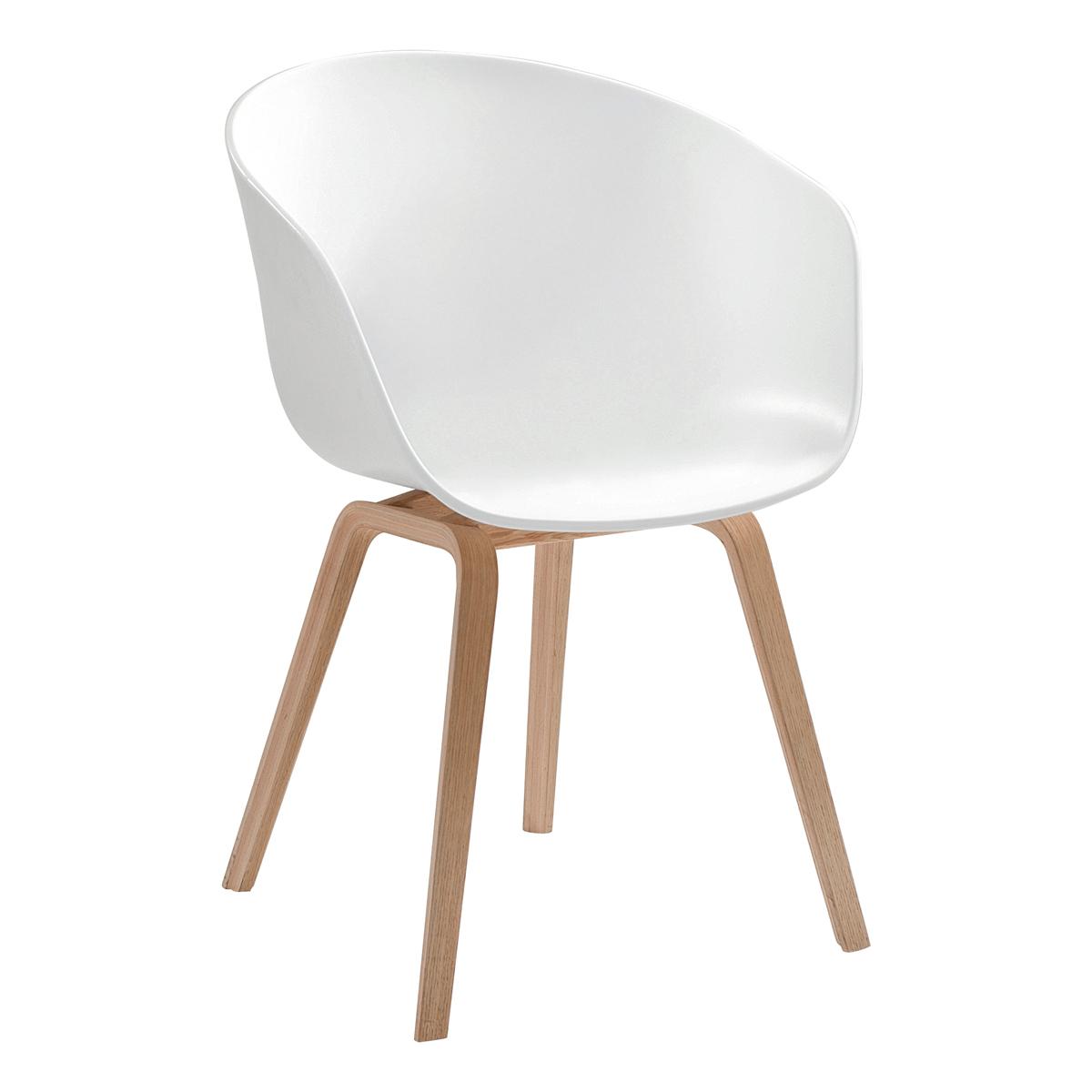 Stuhl About a Chair, weiß-Eiche