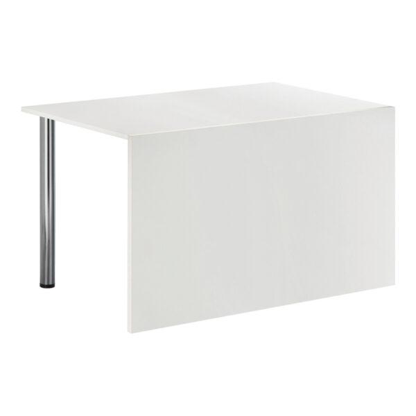 Sitztisch Genf, weiß, mit Blende