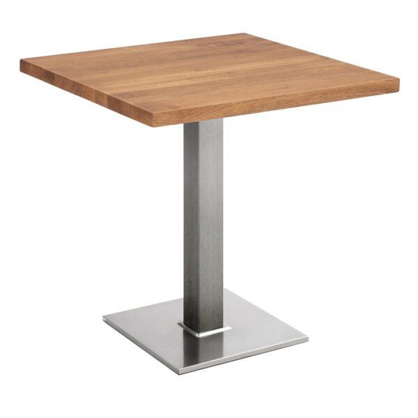 Sitztisch Quadrat, eckig, Eiche dunkel