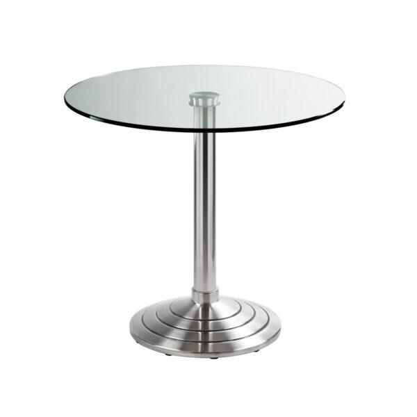 Sitztisch Athen, rund, Klarglas