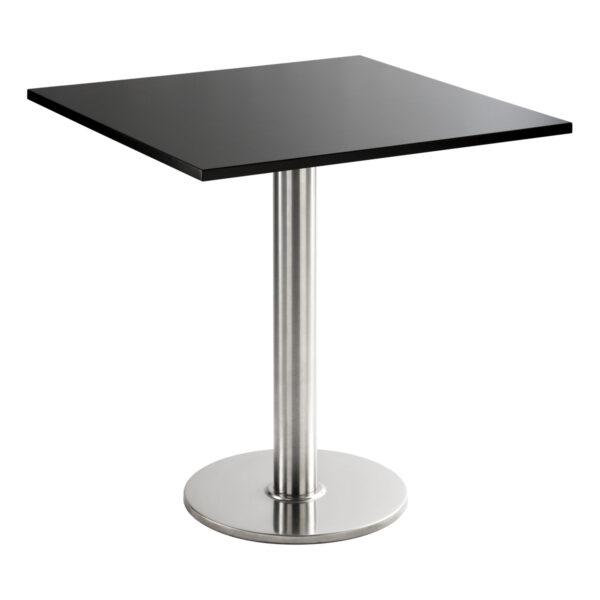 Sitztisch Chromo, eckig, schwarz