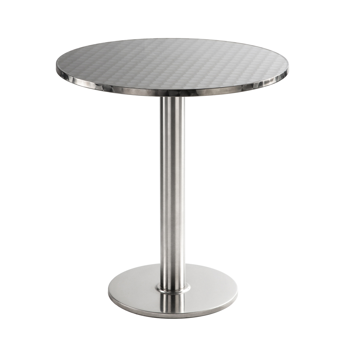 Sitztisch Chromo, rund, Inox