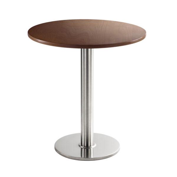 Sitztisch Chromo, rund, Nussbaum