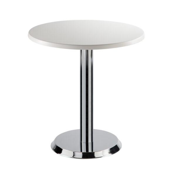 Sitztisch Kalender, rund, weiß