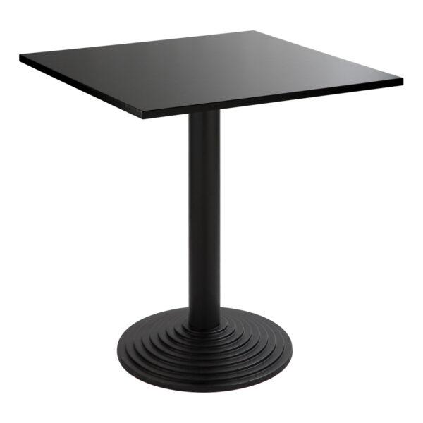 Sitztisch Nizza schwarz, eckig, schwarz