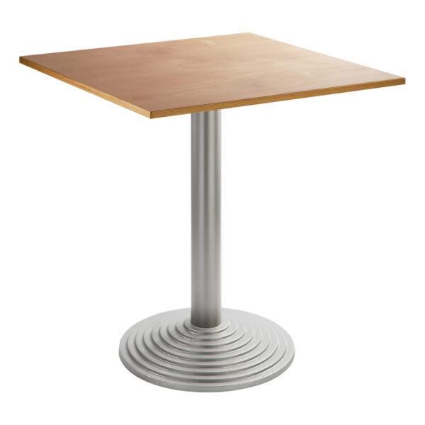 Sitztisch Nizza silber, eckig, Buche