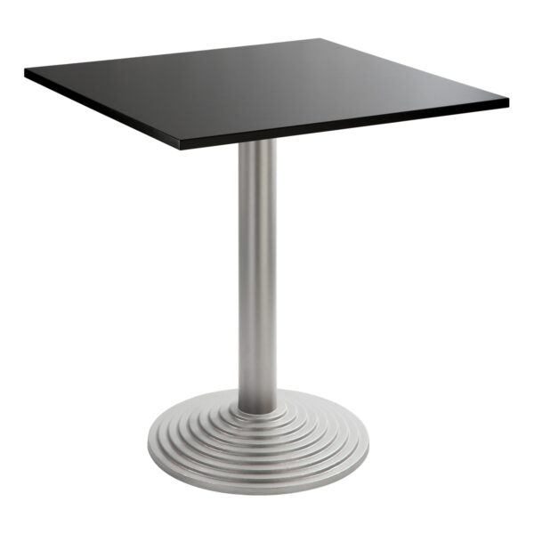 Sitztisch Nizza silber, eckig, schwarz
