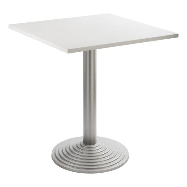 Sitztisch Nizza silber, eckig, weiß
