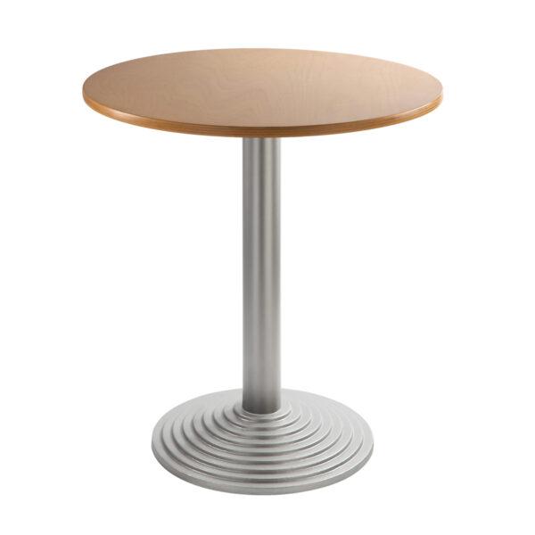 Sitztisch Nizza silber, rund, Buche
