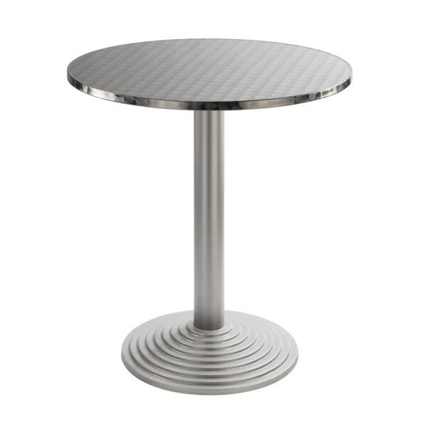Sitztisch Nizza silber, rund, Inox