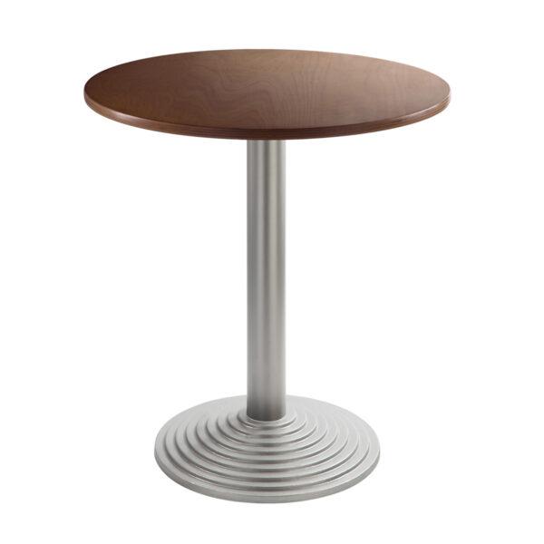 Sitztisch Nizza silber, rund, Nussbaum