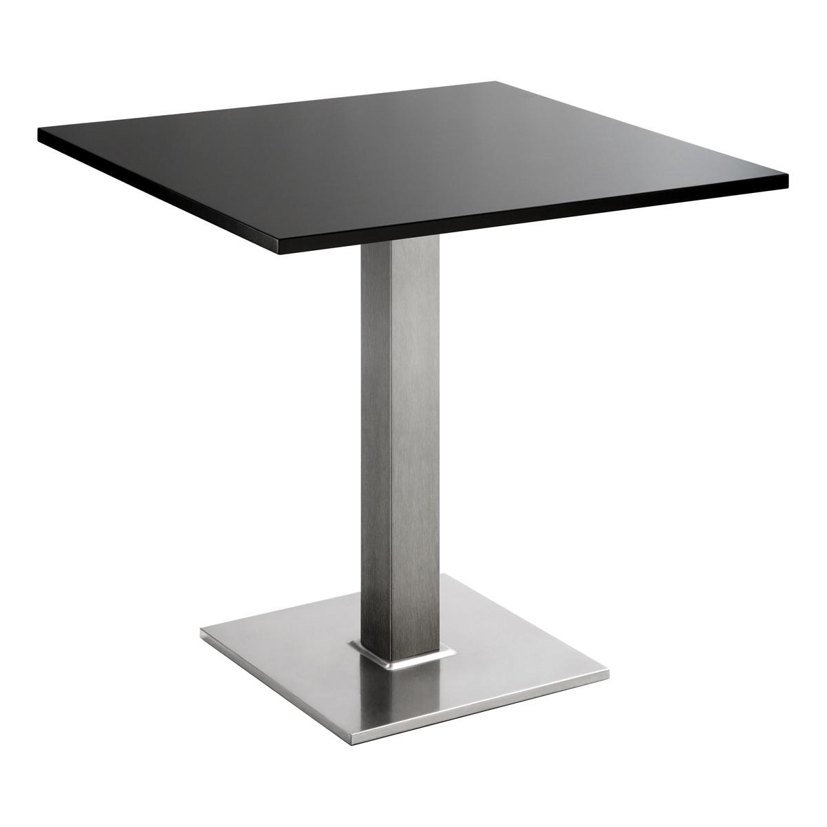 Sitztisch Quadrat, eckig, schwarz