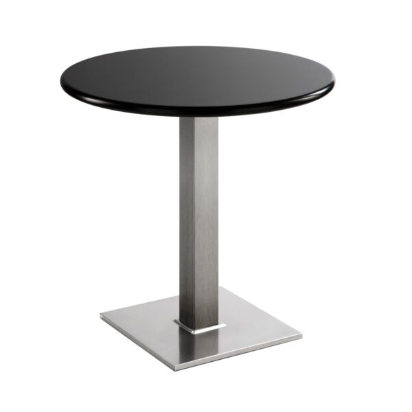 Sitztisch Quadrat, rund, schwarz