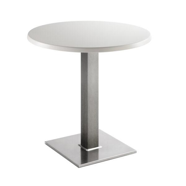 Sitztisch Quadrat, rund, weiß