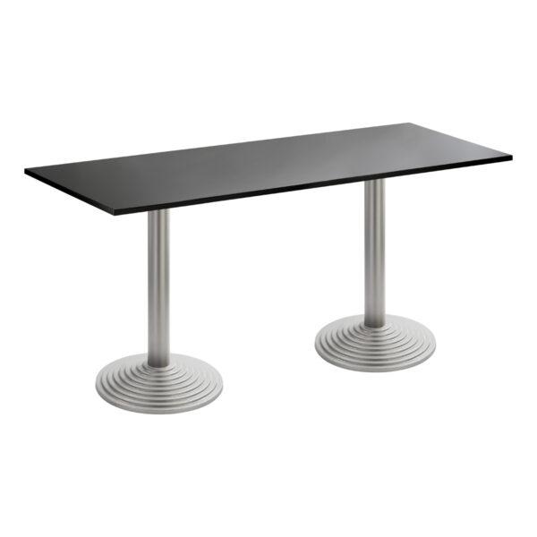 Sitztisch Nizza Doppel, silber-schwarz