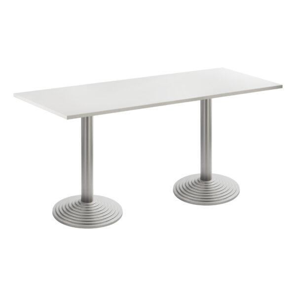 Sitztisch Nizza Doppel, silber-weiß