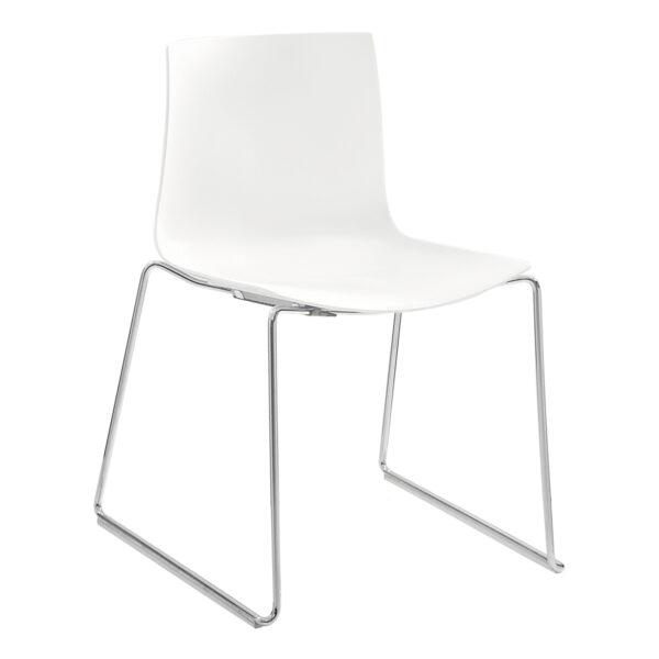 Stuhl Catifa 46, 4-Fuß, weiß