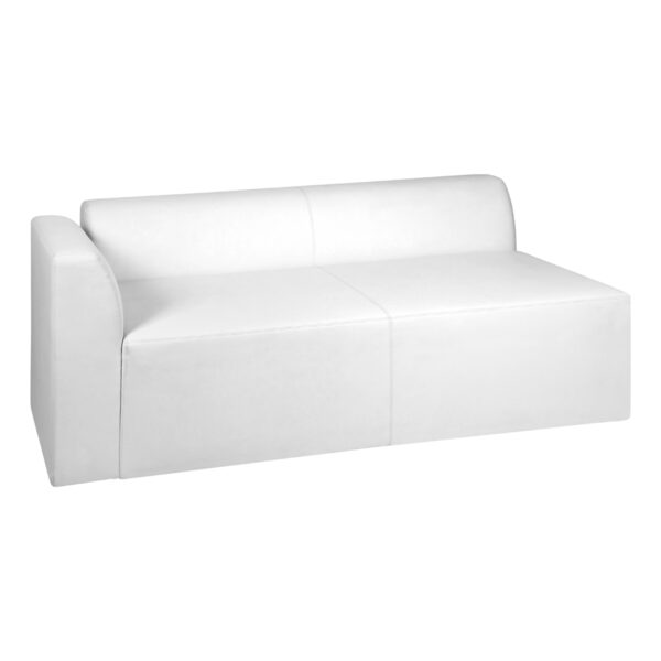 Sofa Einsplus, weiß, links