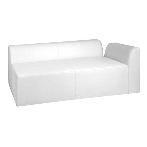 Sofa Einsplus, weiß, rechts