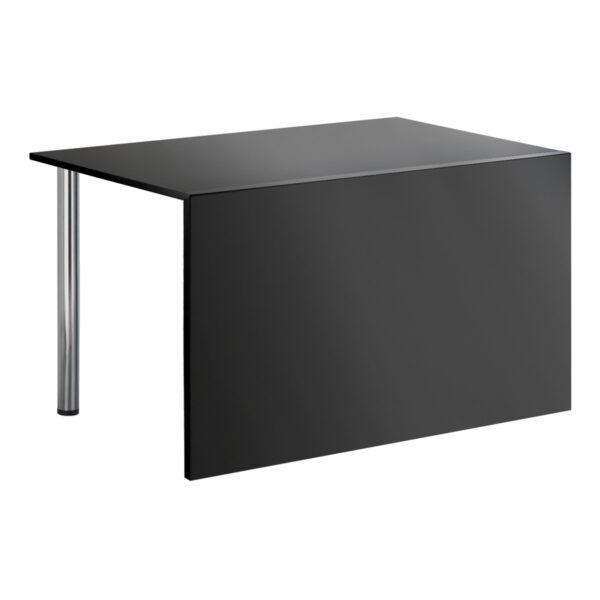 Sitztisch Genf, schwarz, mit Blende