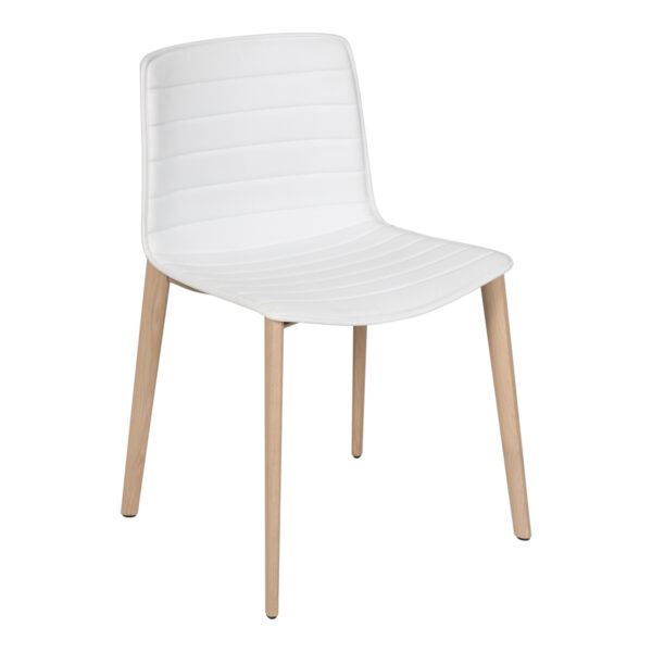 Stuhl Catifa Wood Leder, weiß