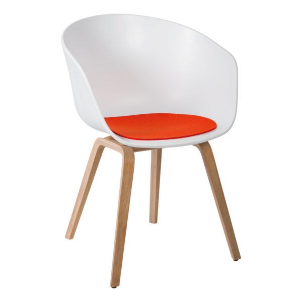 Stuhl About a Chair mit Sitzauflage