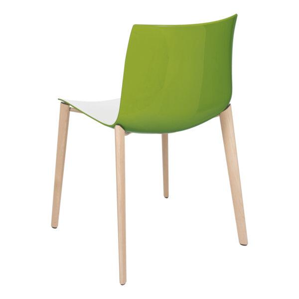 Stuhl Catifa Wood, weiß-grün