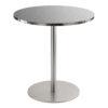 Sitztisch Brio, rund, Inox