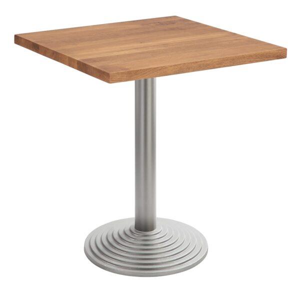 Sitztisch Nizza silber, eckig, Eiche dunkel
