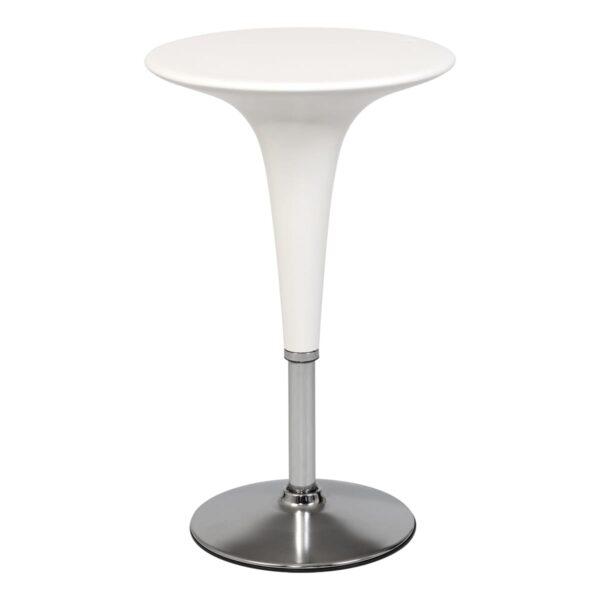 Steh- und Sitztisch Bombo, weiß